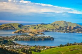 Dunedin-town-and-bay-as-seen-from-the-hills-above-South-Island-New-Zealand